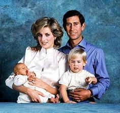 The Prince and Princess of Wales, Prince Charles and Princess Diana, pose for a family portrait with their sons Prince William, and Prince Harry, at Kensington Palace in London on Oct. Royal Princess, Princess Diana Family, Prince And Princess, Princess Of Wales, Princess Diana Fashion, Prince Charles, Charles And Diana, Prince Harry, Prince William And Harry