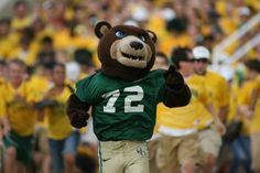Baylor University Bears football - costumed mascot Bruiser