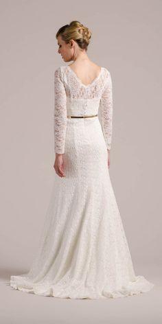 Von hinten machst du in unserem New Boho Brautkleid Daphne auch eine ...