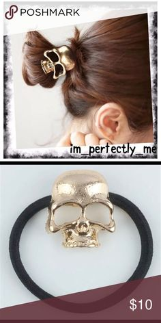 Skull ponytail holder Edgy and stylish; add a little flair to that ponytail or top knot! Photos courtesy of im_perfectly_me Accessories Hair Accessories