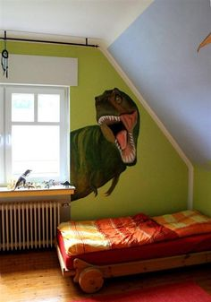 Tyrannosaurus Rex Dinosaur Room – Dinosaur Room + DIY + Nursery + Design + Nursery + Decoration + Decoration Source by delfinamelissa Dinosaur Room, Home Design, Bedroom Themes, Bedroom Decor, Bedroom Ideas, Diy Toddler Bed, Cool Kids Rooms, Image Clipart, Kids Wall Decals
