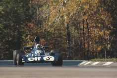 Jackie Stewart in practice at Watkins Glen 1973. He was never to race in this Grand Prix after the tragedy that befell his Tyrell teammate Francois Cervert.