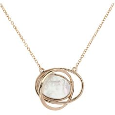 Karen Millen Rhythmic Oval Mother of Pearl Pendant Necklace , Gold ($79) ❤ liked on Polyvore featuring jewelry, necklaces, gold, yellow gold pendant, gold pendant necklace, oval link chain necklace, gold tone jewelry and yellow gold necklace