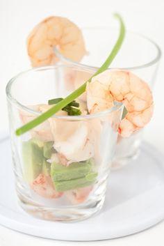 Shrimp & Avocado shots