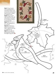 pattern for a cardinal on branch RETIRADO DA NET by flavia_sm1963, via Flickr