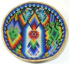 5 Inch Huichol Bead Bowl