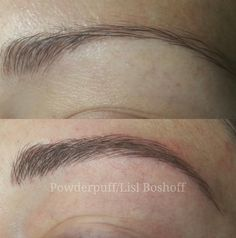 Ultra natural microblade eyebrow tattoo - by #lislboshoff #powderpuffmakeup…