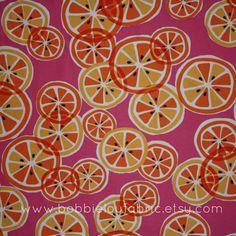 SALE  Michael Miller  Citrus Slice in Sherbert  by BobbieLouFabric, $4.00