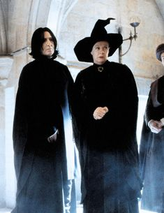 """Minerva picking on Snape because he hasn't gotten the DADA job yet. Have you met Mr. Lockhart yet? He seems VERY qualified for the DADA post. Don't you agree Severus?"""" """"Be quiet, Ms. Harry Potter Severus Snape, Severus Rogue, Alan Rickman Severus Snape, Harry Potter Characters, Harry Potter Fandom, Harry Potter Universal, Harry Potter World, Albus Dumbledore, Draco Malfoy"""