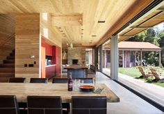 Aptos Retreat Residence / CCS Architecture    - relationship between kitchen and dining