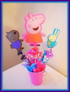 Peppa Pig Centerpiece by SofisPartyDecor on Etsy