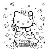 Hello Kitty Princess Coloring Page This Is A Great Activity For Kids Who