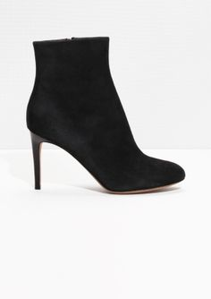 & Other Stories | Suede Stiletto Ankle Boots