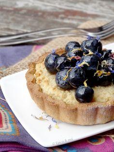 Tartelettes végétales amandines aux myrtilles, raisin, mûres ou framboises...