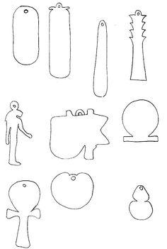 Modèles d'amulettes égyptiennes