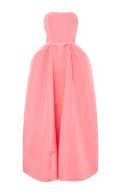 Silk Pleat Detail Ball Gown by OSCAR DE LA RENTA Now Available on Moda Operandi Best Gowns, 2016 Fashion Trends, Dresses For Work, Formal Dresses, Midi Dresses, Long Dresses, Design Blog, Design Ideas, Pink Fashion