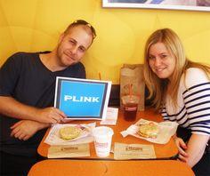 Brandon Pellegrino earning Facebook Credits through Plink.com at Dunkin' Donuts near Brooklyn, NY