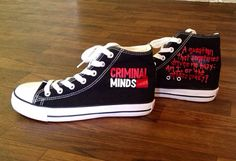 Hand Painted Criminal Minds High Top Shoes by TheFiercestFandom