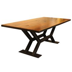 Check out the deal on Double Steel Wood Table at Stowe Craft Gallery