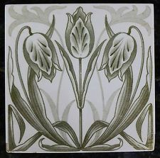 Jugendstil Fliese art nouveau Tile Tegel Saargemünd Tulpen stilisiert top rar