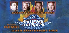 """The Gipsy Kings burst into the U.S. music scene in 1987 with their self-titled album and the single, """"Bamboleo"""" performed in their native Gipsy language. This multi-Grammy™-winning group's celebration of their 25th anniversary will be a family affair at The Mahaffey Theater. The Kings will be joined by Ole Noys, comprised of three of their sons.  http://www.themahaffey.com/show/Gipsy-Kings/321"""