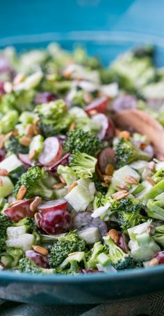 Broccoli Grape and Cucumber Salad