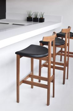 High wooden stool TORII BAR | Stool - BENSEN & Rosewood and Leather Bar Stools Denmark 1960s | Modern stools ... islam-shia.org