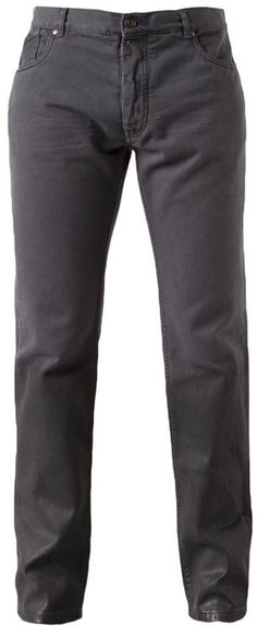 $335, Charcoal Skinny Jeans: Maison Margiela Ombre Jean. Sold by farfetch.com. Click for more info: https://lookastic.com/men/shop_items/131462/redirect