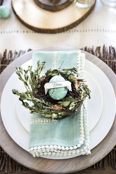 Image result for nest and egg place setting