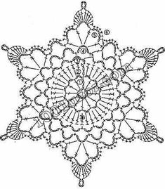 Transcendent Crochet a Solid Granny Square Ideas. Inconceivable Crochet a Solid Granny Square Ideas. Crochet Snowflake Pattern, Crochet Motifs, Crochet Snowflakes, Crochet Diagram, Doily Patterns, Thread Crochet, Crochet Crafts, Crochet Doilies, Crochet Flowers