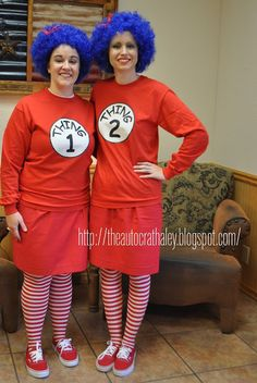 the autocrat cat in the hat thing 1 thing 2 adult halloween costume twin costume - Thing 1 Thing 2 Halloween Costume