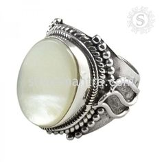 Amazing!! Mother of Pearl 925 Sterling Silver Ring