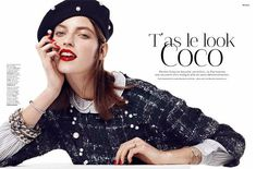 Monochromatic Parisian Fashion - Stylist Magazine 'T'as le Look Coco' Stars Marikka Juhler (GALLERY)