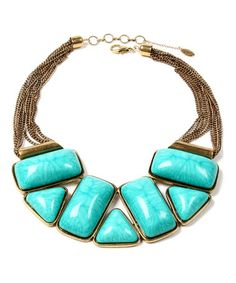 Take a look at this Turquoise Bridgehampton Necklace by Amrita Singh on #zulily today!
