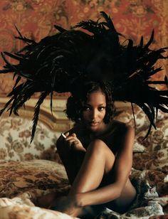 Naomi Campbell photographed by Michel Comte for Vogue Italia Alta Moda September 1993 ('Wild Softness').