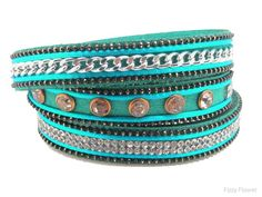 Boho Betty Jaipur Indian Velvet faux suede triple wrap bracelet