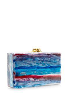M'O Exclusive: Minnie Blue Tie-Dye Clutch by Edie Parker