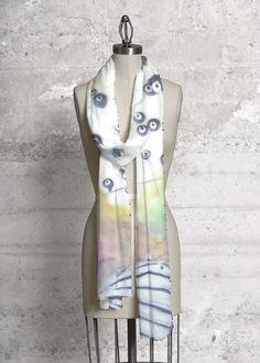 VIDA Design Studio featuring art by Karen Ross ArtForCoffeesSake.blogspot.com printed on the scarf