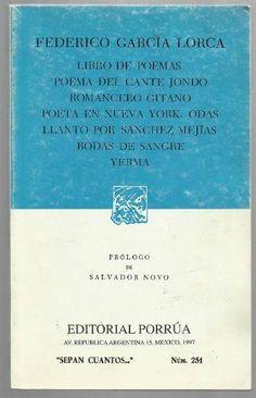 Libro De Poemas, Poema Del Cante Jondo Federico Garcia Lorca - $ 69.00