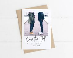 Engagement Photo Save the Date, Polaroid Save the Date, Printable, Personalised Save the Date, Custom Save the Date by PaperLaurelDesigns on Etsy #save the date #engagementphotosavethedate #photosavethedate #customsavethedate #personalisedsavethedate