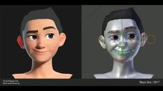A facial rigging test of a character i have modeled and rigged with bone based rigging (No Shapekey) in Blender. Cgi, 3d Character Animation, Animation Reference, Beauty Blender How To Use, Blender Tutorial, Used Cell Phones, 3d Tutorial, Blender 3d, Natural Hair Inspiration