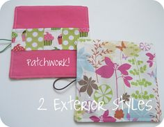 Tampon Wallet and Roll PDF Sewing Pattern and by thesplitstitch