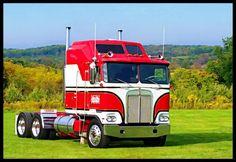 Big Rig Trucks, Semi Trucks, Trailers, Custom Big Rigs, Custom Trucks, Truck Transport, Cab Over, Kenworth Trucks, Old Tractors