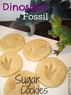 Dip it in Chocolate: Dinosaur Fossil Sugar Cookies (Basic Sugar Cookie Recipe)