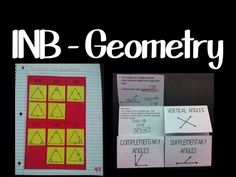 a pinterest board full of interactive notebook pages and foldables for high school geometry
