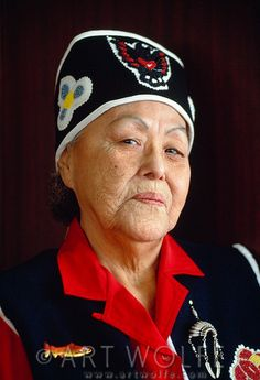 Marie Smith Jones (May 14, 1918 - January 21, 2008) was the last surviving speaker of the Eyak language, Anchorage, Alaska. Art Wolfe.