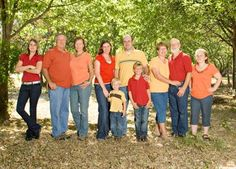 Coral Orange And Yellow OrangeYellowFamily Picture OutfitsOutfit IdeasExtended