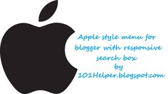 Apple(iphone) style responsive menu for blogger with search box | 101helper menus for blogger.