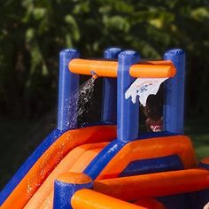 Blast Zone Pirate Bay Inflatable Combo Water Park and Bounce by Blast Zone Inflatable Water Park, Inflatable Bounce House, Water Slides, Pool Slides, Things That Bounce, Things To Come, Bouncy House, Water Cannon, Bouncers