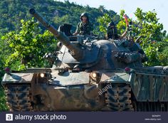 Download this stock image: South Korean Army Tank in Gangwon-do Province near the border with North Korea - BDN5PY from Alamy's library of millions of high resolution stock photos, illustrations and vectors.